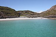 The beautiful beach at the Point of Sleat