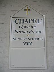 Chapel signboard