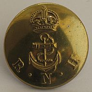 Royal Naval Hospital uniform button