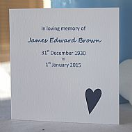 Funeral Seed Cards - Modern