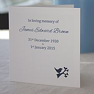 Funeral Seed Cards - Script