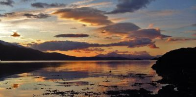 sunset as seen from ceol na mara