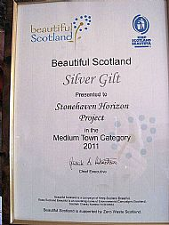 Stonehaven Horizon receives the Silver Gilt award in Beautiful Scotland's Medium Town category -- 2011