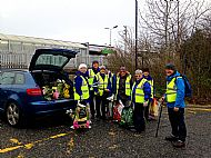 Litter pick at the railway station -- 29 January 2019. Photo by Julie Lomax.
