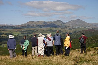 wgs members looking towards the coniston fells