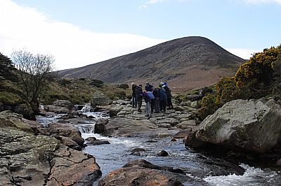 looking at the hornfelsed skiddaw slate in the river caldew