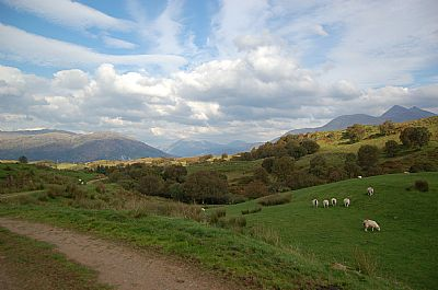 image from the road from taynuilt to balidore looking down loch etive