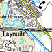map of the taynuilt and surrounding area showing walking and cycling routes