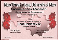 Mars Three College Certificate