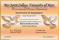 Mer Spirit College Certificate