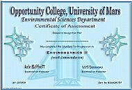 Opportunity College Certificate