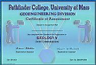 Pathfinder College Certificate