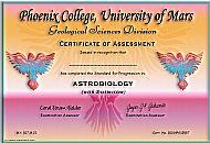 Phoenix College Certificate