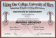 Viking One College Certificate