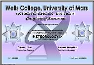 Wells College Certificate