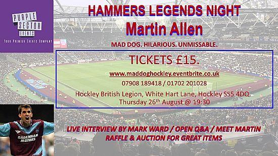 hammers legends night