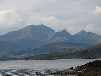 view of cuillins from tarskavaig.