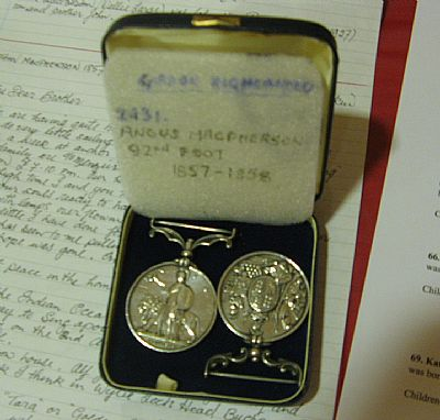 angus 'the soldier's' medals