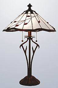 Tiffany MT20TL 40cm ruby leaf lamp