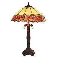 Tiffany MT22TL 40cm burnt orange/beige table lamp
