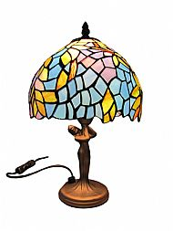 Tiffany PM91 20cm floral lady base table lamp