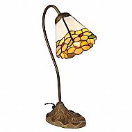 Tiffany R5-5 orange swan neck lamp