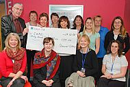 Somerset College present cheque in 2008