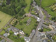 St Brides Churchyard from above.