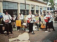 The Buskateers playing in Doncaster Market in 1996!