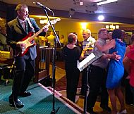 Playing a 50's/60's night at The Trades Club in Doncaster