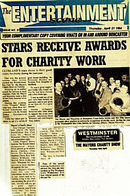 Write up in The Entertainment Scene (formerly Doncaster Entertainer) about our appearance @ The Lord Mayors Show @ The Westminster Club, Doncaster in 1994.