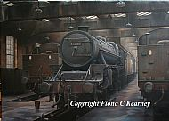 Black Five at Lostock Hall Shed 1967