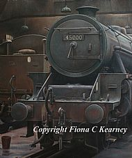 Black Five at Lostock Hall Shed 1967 - DETAIL