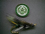 Hairwing Salmon fly brooch.