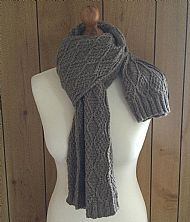Aran scarf and Hat