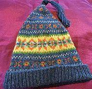 Blue Shetland Wool Hat