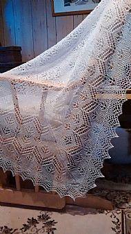 1 ply shetland shawl