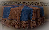 blue/brown shawl