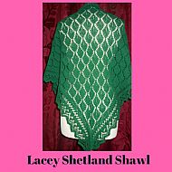 Shetland shawl - green