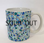 Scallop-style hand drawn mug