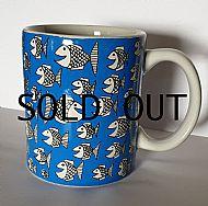 Happy fish hand drawn mug