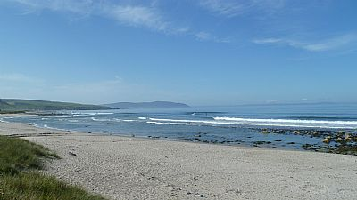 a warm summer's day on the beach at killegruer.