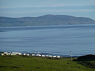 View over the site looking towards the Mull of Kintyre