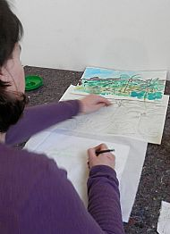 Translating your design on paper into batik