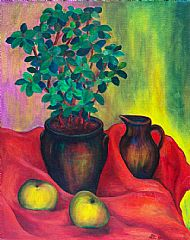 Apples, Plant and Jug