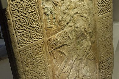 nigg pictish cross-slab reverse side detail