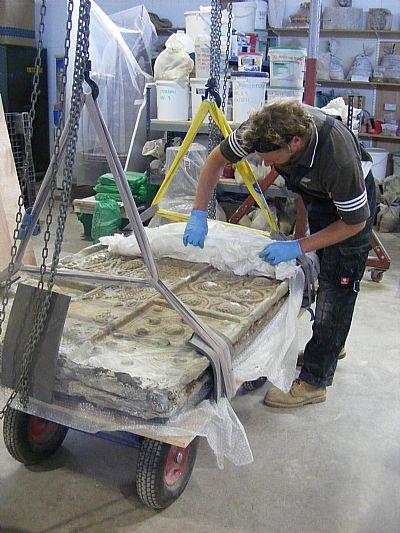 the nigg cross-slab in the workshop of graciela ainsworth