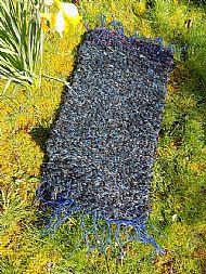 blue peg loom rug