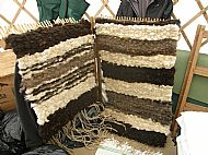 peg loom rug weaving