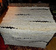 peg loom rug in process
